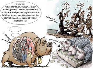 Cerșeala voturilor: Mulți porci, niscaiva javre, prostul satului