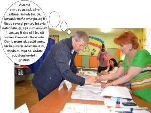 Excelența Sa, Daciaaaan Ciolooooșșșș, a votat! La Zalău, fiindcă nu vrea să-și taie rădăcinile. Dar cu istoria României cum rămâne?