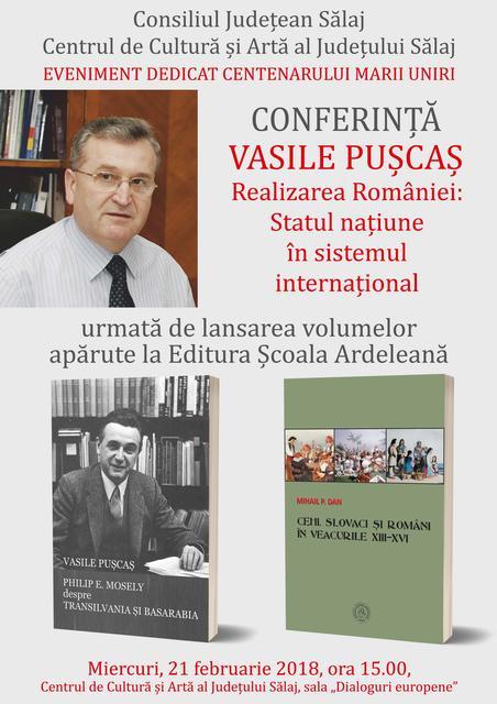 Vasile Pușcaș, conferință și lansare de carte la Zalău