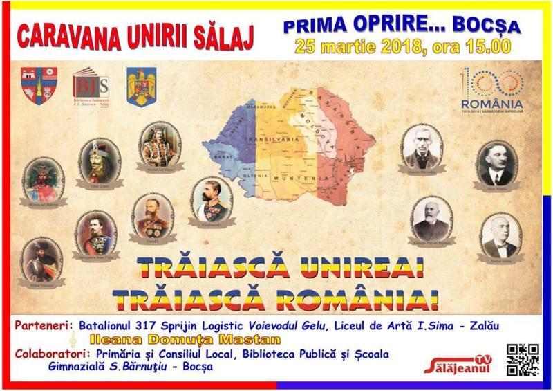 Caravana Unirii în Sălaj, prima oprire Bocşa lui Simion Bărnuţiu