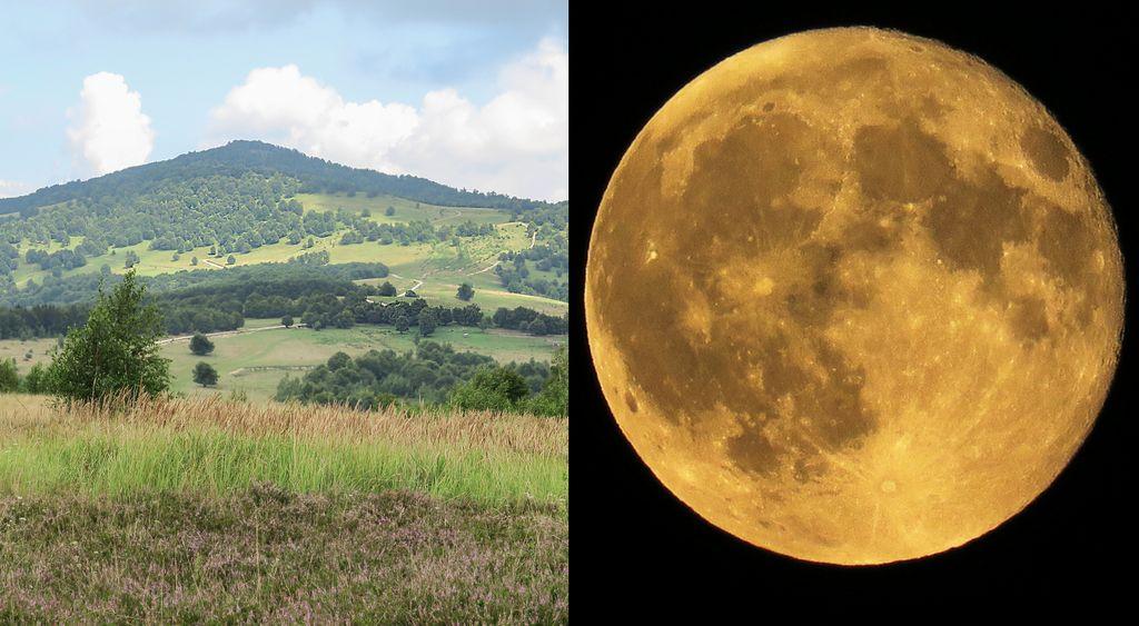 Cu cel mai înalt vârf al Sălajului în față și luna portocalie deasupra. Cerul e pentru visători. A douăsprezecea tabără SPS