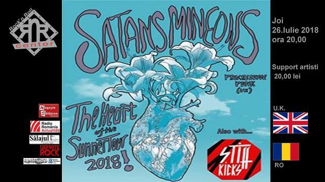 Grupul Satans Mineons din Marea Britanie și Stiff Kicks din Cluj-Napoca, în concert în Rock'n Roll Center din Zalău