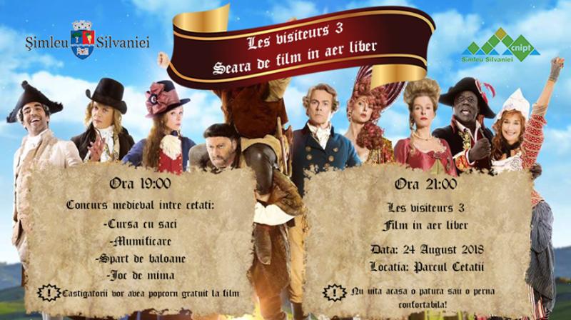 Concurs medieval între cetăţi şi proiecţie de film la Şimleu Silvaniei, un preambul inedit la cea de-a treia ediţie a Bathory Fest
