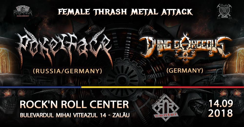 Pokerface înființată în Rusia și Dying Gorgeous Lies din Germania în concert la Zalău