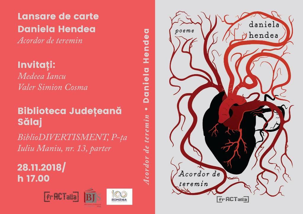 Lansare de carte: Acordor de teremin - poeme, Daniela Hendea