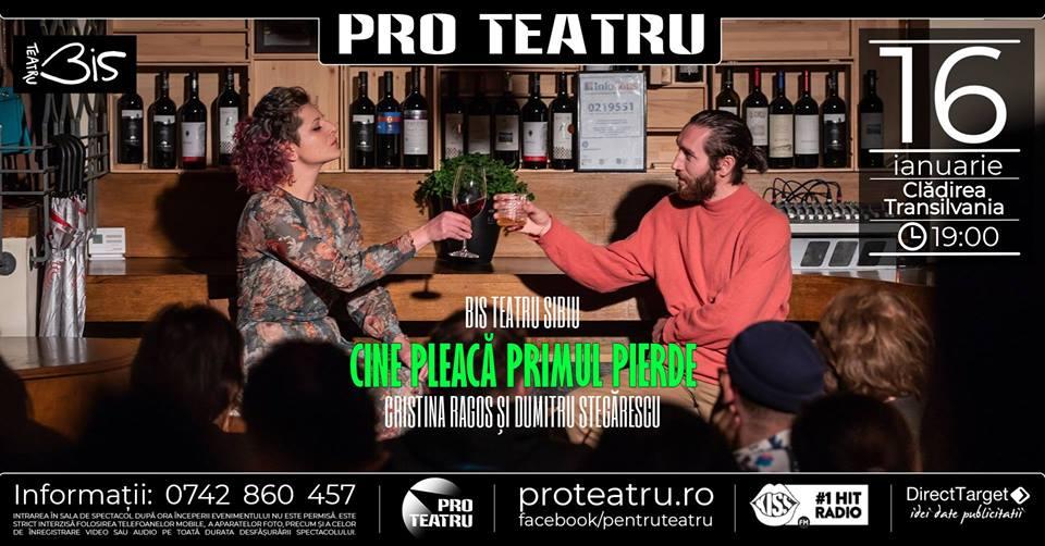 """Pro Teatru aduce la Zalău, la început de an, spectacolul """"Cine pleacă primul pierde"""""""