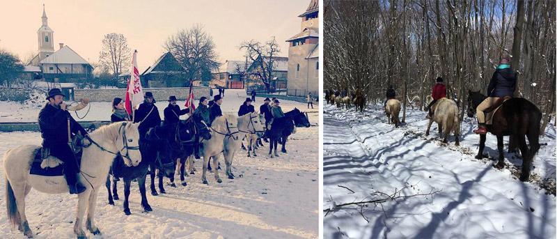 Iarna, condusă pe ultimul drum în cele trei zile de Fărşang la Stana, în Ţara Călatei