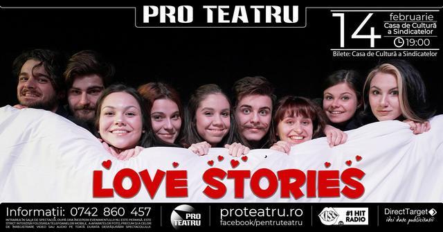 Paisprezece povești de dragoste, într-un spectacol oferit de Asociația Pro Teatru, de Ziua Îndrăgostiților