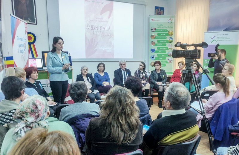 """Ziua Mondială de Luptă împotriva Cancerului, marcată la Șimleu Silvaniei prin simpozionul """"Sunt și voi fi un susținător"""""""