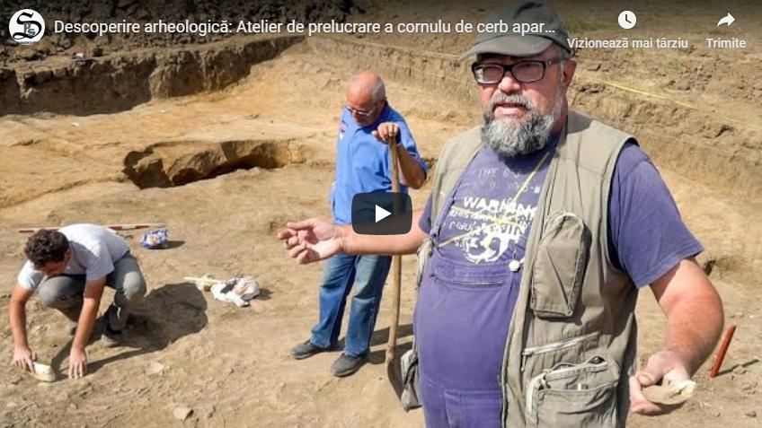 Descoperire arheologică: Atelier de prelucrare a cornului de cerb aparținând dacilor liberi (Pericei, Sălaj)