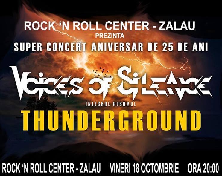 VOICES OF SILENCE - super concert aniversar de 25 de ani, în Rock'n Roll Center Zalău