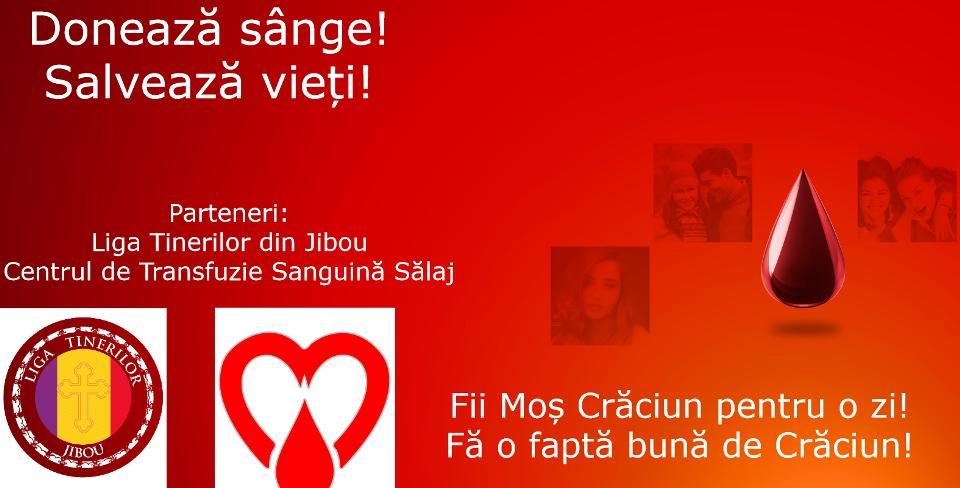 Donează sânge! Salvează vieți! - Campanie de donare de sânge la Jibou