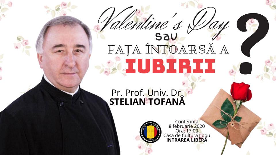 Părintele Stelian Tofană, conferință despre sărbătoarea Sfântului Valentin, la Jibou