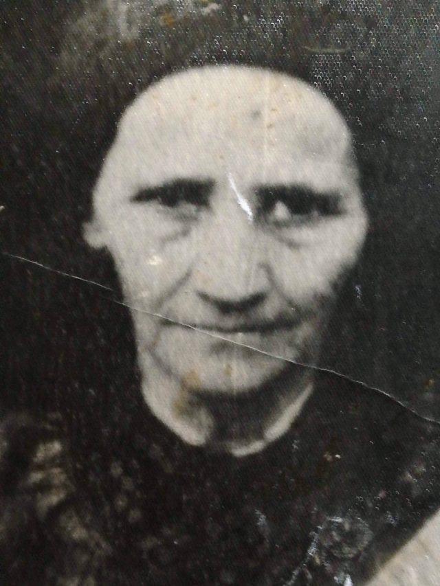 Maria Herțe, zisă Birăița bătrână (fotografie din colecția familiei Herțe, pusă la dispoziție de Loredana Herțe)