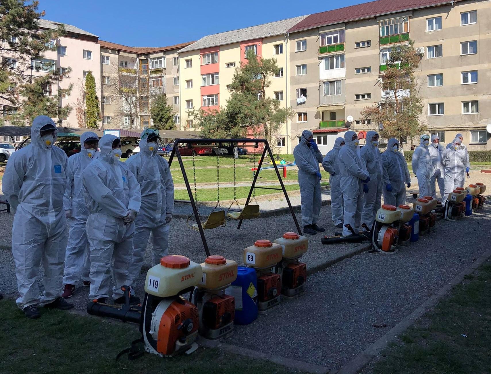 Scările de bloc din Zalău, la o nouă dezinfecție