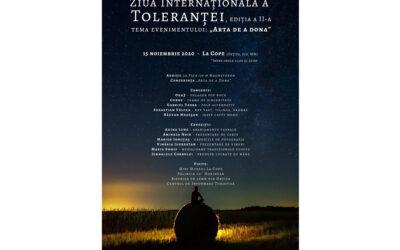 Arta de a Dona. Eveniment online dedicat Zilei Internaționale a Toleranței