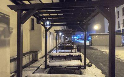 Peisaj de iarnă urban