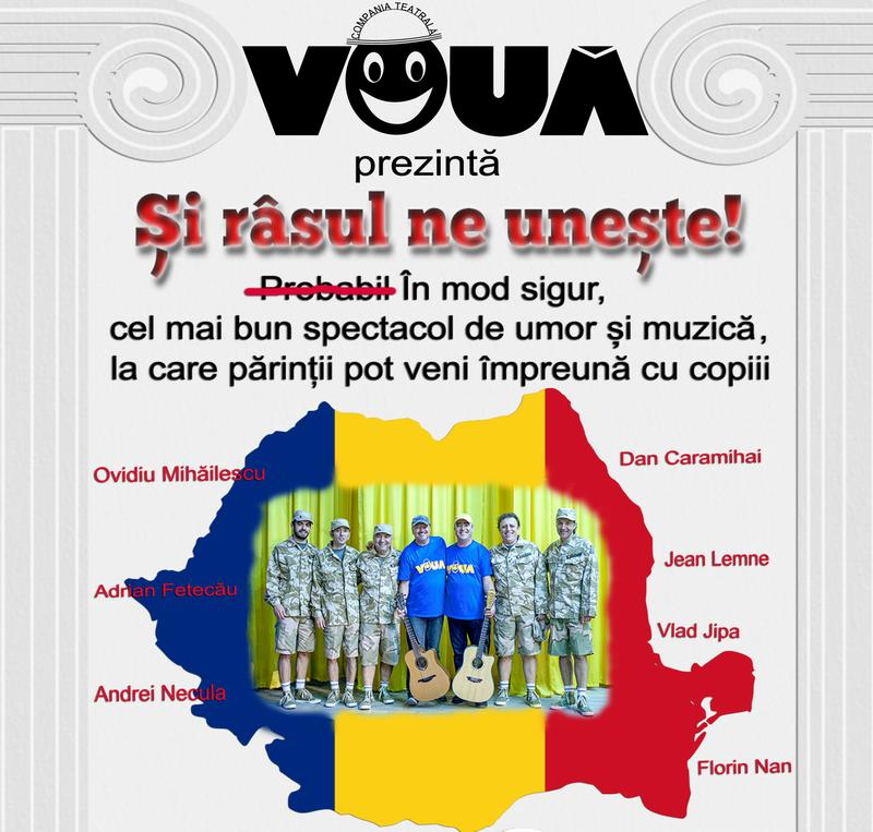 """Grupul Vouă aduce la Zalău spectacolul de umor și muzică """"Și râsul ne unește"""""""